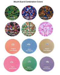 combination color mouthguards