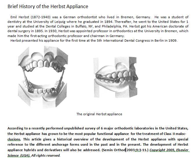the original of sleep herbst appliance